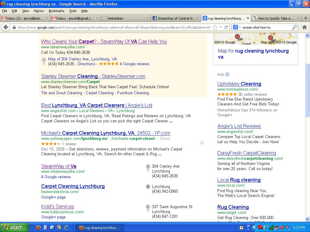 SteamWay_Google Search_Rug Cleaning